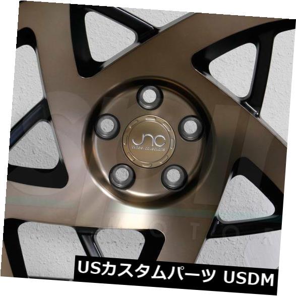"""海外輸入ホイール 4-New 17 """"""""JNC 047 JNC047 Wheels 17x9.5 5x114.3 35 Matte Black Bronze Face Rims 4-New 17"""""""" JNC 047 JNC047 Wheels 17x9.5 5x114.3 35 Matte Black Bronze Face Rims"""