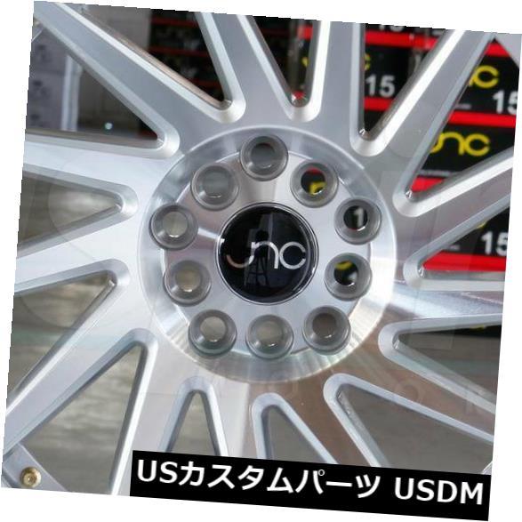 """海外輸入ホイール 4-新しい18インチJNC 051 JNC051ホイール18x8.5 / 18x9.5 5x114.3 35/35シルバーマシンフェイス。 4-New 18"""""""" JNC 051 JNC051 Wheels 18x8.5/18x9.5 5x114.3 35/35 Silver Machine Face."""