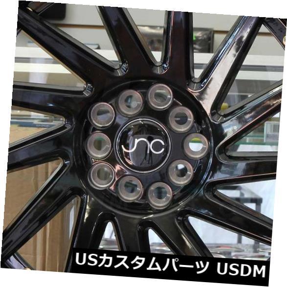 """海外輸入ホイール 4-新しい18インチJNC 051 JNC051ホイール18x8.5 / 18x9.5 5x114.3 35/35グロスブラック。 4-New 18"""""""" JNC 051 JNC051 Wheels 18x8.5/18x9.5 5x114.3 35/35 Gloss Black. Stagger"""