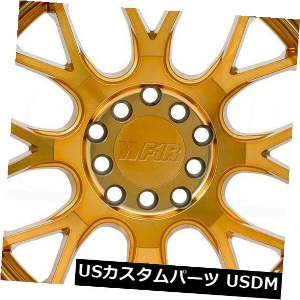 品質が完璧 海外輸入ホイール 5x100/5x114.3 4-新しい18インチF1R F21ホイール18x9.5/ Machine 18x10.5 35/40 5x100/ 5x114.3 35/40マシンゴールドスタガー 4-New 18
