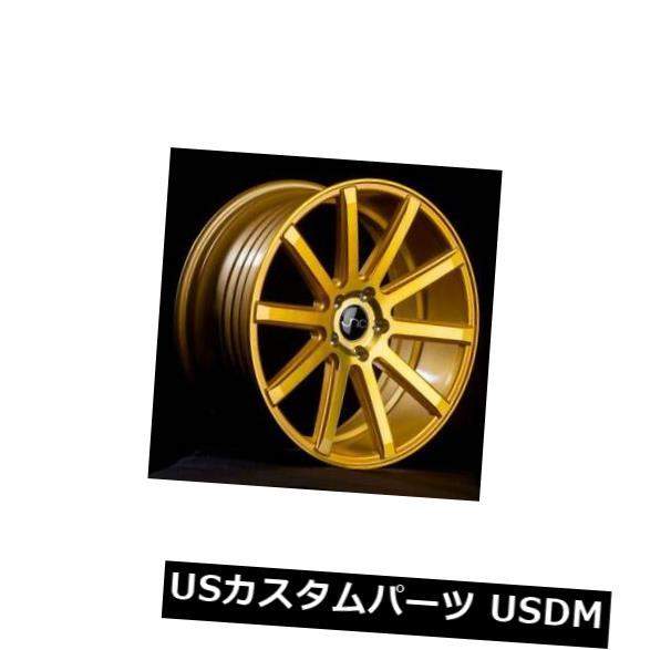 【セール】 海外輸入ホイール 18x9.5 4-新しい18インチJNC 5x114.3 024 Transparent JNC024ホイール18x8.5/ 18x9.5 5x114.3 35/30透明ゴールドSta 4-New 18