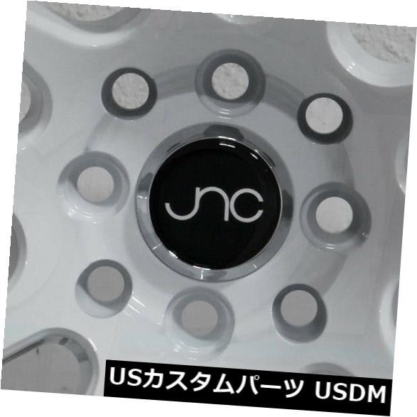 """海外輸入ホイール 4-新しい17 """"""""JNC 030 JNC030ホイール17x8 / 17x9 4x100 / 4x114.3 32/32ホワイトスタッガードRi 4-New 17"""""""" JNC 030 JNC030 Wheels 17x8/17x9 4x100/4x114.3 32/32 White Staggered Ri"""