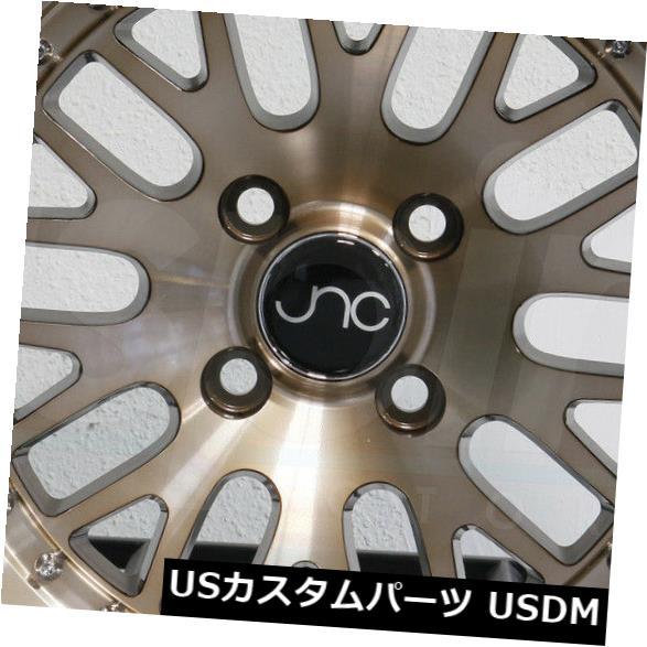 """海外輸入ホイール 4-新しい17 """"""""JNC 001 JNC001ホイール17x8 / 17x9 5x100 / 5x114.3 25/20透明ブロンズ 4-New 17"""""""" JNC 001 JNC001 Wheels 17x8/17x9 5x100/5x114.3 25/20 Transparent Bronze"""