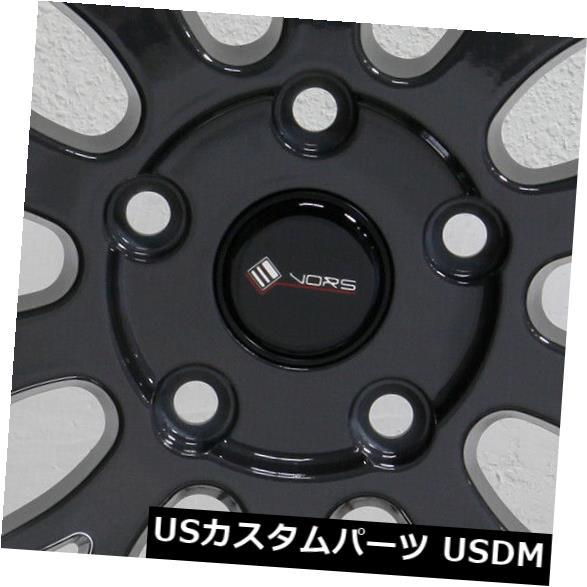 品質保証 海外輸入ホイール 19x9.5 4-新しい19インチVors VR8ホイール19x9.5 5x110 5x110 35ハイパーブラックリム 4-New 19