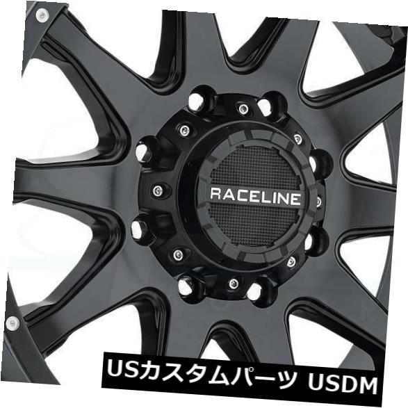 """海外輸入ホイール 4-新しい16インチRaceline 930Bシフトホイール16x8 8x6.5 / 8x165.1 0ブラックリム 4-New 16"""""""" Raceline 930B Shift Wheels 16x8 8x6.5/8x165.1 0 Black Rims"""