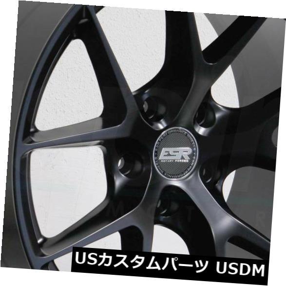 激安店舗 海外輸入ホイール 4-新しい18インチESR ESR RF02 Wheels RF2ホイール18x8.5/ 18x10 5x114.3 30 Matte/25マットブラックスタッガードR 4-New 18