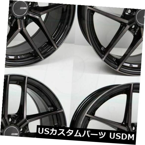 海外輸入ホイール 4-新しい18インチEnkei TY5ホイール18x8 5x100 45パールブラックリム 4-New 18 Enkei TY5 Wheels 18x8 5x100 45 Pearl Black Rims