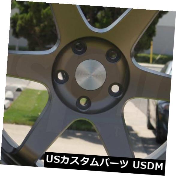 第一ネット 海外輸入ホイール 4-新しい19インチESR SR07 SR7ホイール19x8.5 / 19x10.5 5x114.3 30/22ブロンズスタッガードリム 4-New 19