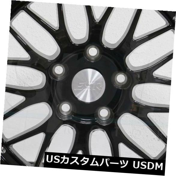 【爆買い!】 海外輸入ホイール 4-新しい19インチESR SR05 SR5ホイール19x9.5 Wheels SR05 5x114.3 22グロスブラックリム 4-New Rims 19