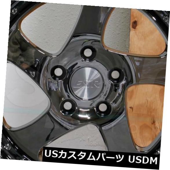 全ての 海外輸入ホイール 4-新しい18インチESR SR02 SR2ホイール18x10.5 5x114.3 22ブラッククロムリム Chrome 4-New 18x10.5 18