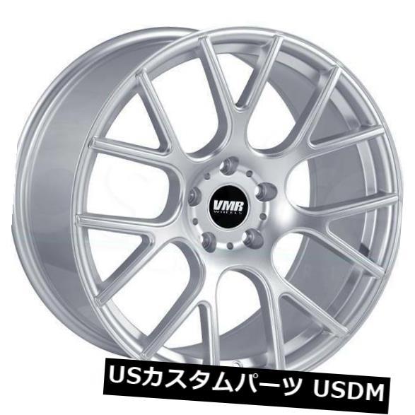 車用品 バイク用品 >> タイヤ ホイール 海外輸入ホイール 4-新しい18インチVMR V810ホイール18x9.5 5x112 25ハイパーシルバーリム 4-New Rims Wheels 18x9.5 Hyper 実物 25 Silver V810 信憑 VMR 18