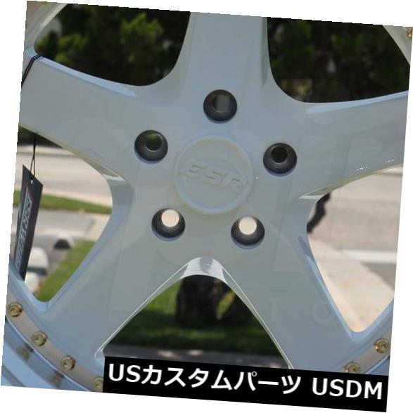 特別オファー 海外輸入ホイール Wheels 4-新しい19インチESR SR04 SR4ホイール19x10.5 5x120 22ホワイトリム White 4-New 19