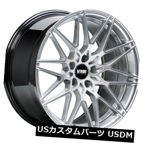 <title>車用品 バイク用品 >> タイヤ ホイール 海外輸入ホイール 4-新しい18インチVMR V801ホイール18x8.5 5x112 35ハイパーシルバーリム 4-New 100%品質保証! 18