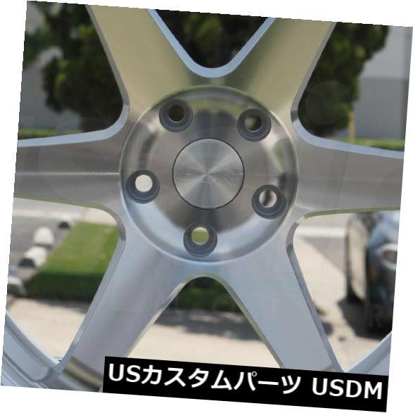 海外輸入ホイール 4-新しい19インチESR SR07 SR7ホイール19x9.5 / 19x10.5 5x114.3 22/22機械加工シルバーStagg 4-New 19