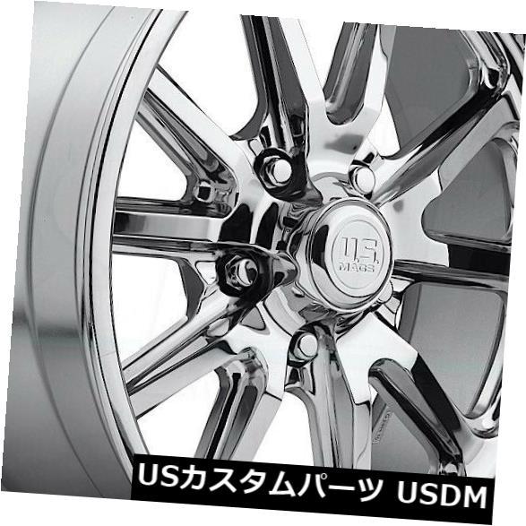 【在庫有】 海外輸入ホイール 4-新しい18インチUS/ Mags Rambler U110ホイール18x9.5 5x4.75 Wheels/ 5x120.6 US 5 1クロームリム 4-New 18