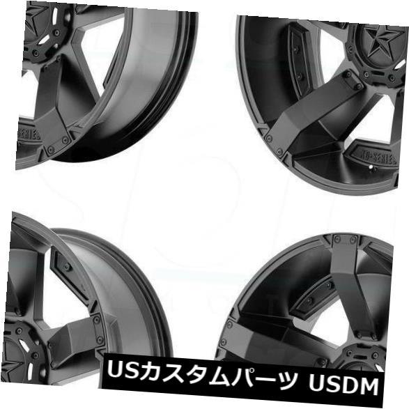 """海外輸入ホイール 4-New 17 """"""""XD XD811 Rockstar Wheels 17x9 6x135 / 6x5.5 -12ブラックアクセントリム 4-New 17"""""""" XD XD811 Rockstar Wheels 17x9 6x135/6x5.5 -12 Black Accent Rims"""