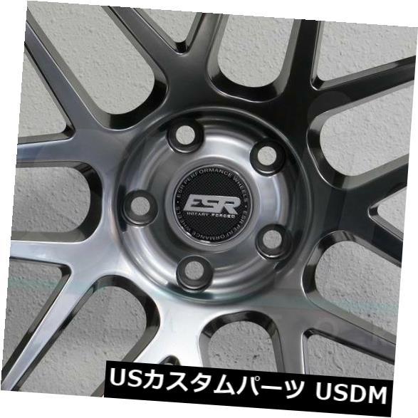 車用品 予約販売 バイク用品 >> タイヤ ホイール 海外輸入ホイール 4-新しい19インチESR RF01 RF1ホイール19x9.5 5x120 22ハイパーブラックリム 4-New ESR Black 全国一律送料無料 19x9.5 19