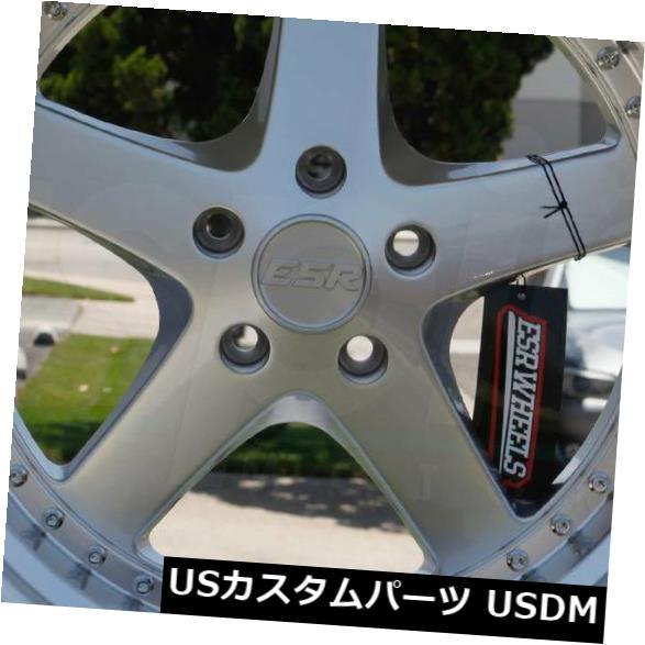 海外輸入ホイール 4-新しい19インチESR SR04 SR4ホイール19x9.5 / 19x10.5 5x114.3 35/22ハイパーシルバースタッガー 4-New 19