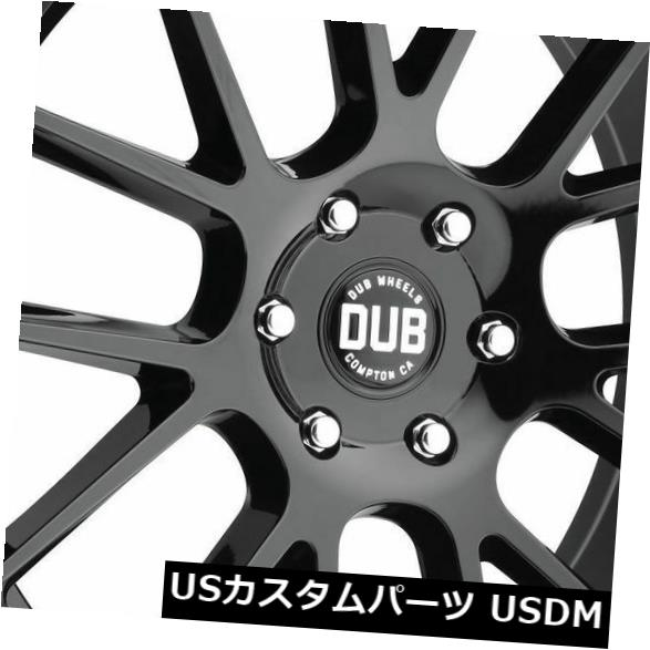 車用品 バイク用品 >> 格安激安 タイヤ ホイール 海外輸入ホイール 4-新しい22インチDUB 40%OFFの激安セール Luxe S205ホイール22x9.5 6x135 30グロスブラックリム 30 Gloss Wheels Rims 22