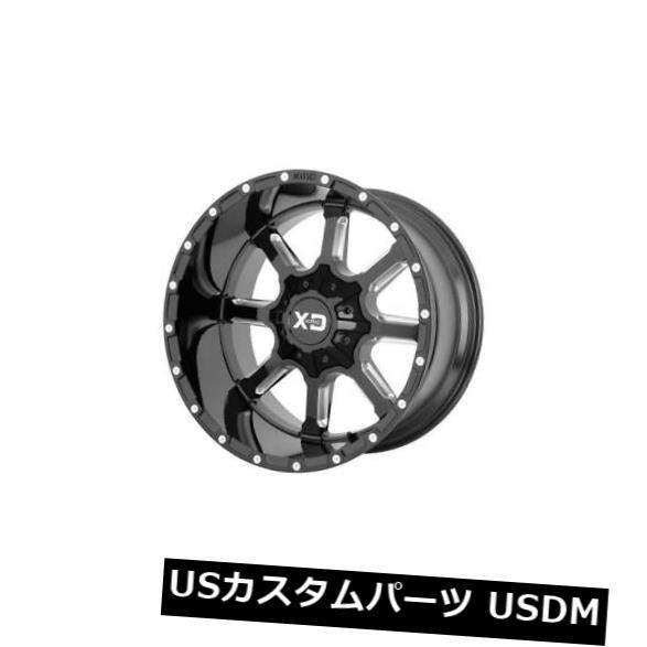 【現品限り一斉値下げ!】 海外輸入ホイール Rims 4-新しい20インチXD XD838マンモスホイール20x12 8x6.5/ 8x165.1/ -44ブラックミルドリム 4-New Black 20