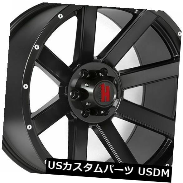 海外輸入ホイール 20x9 Havok H107 8x180 12マットブラックホイールリムセット(4) 20x9 Havok H107 8x180 12 Matte Black Wheels Rims Set(4)
