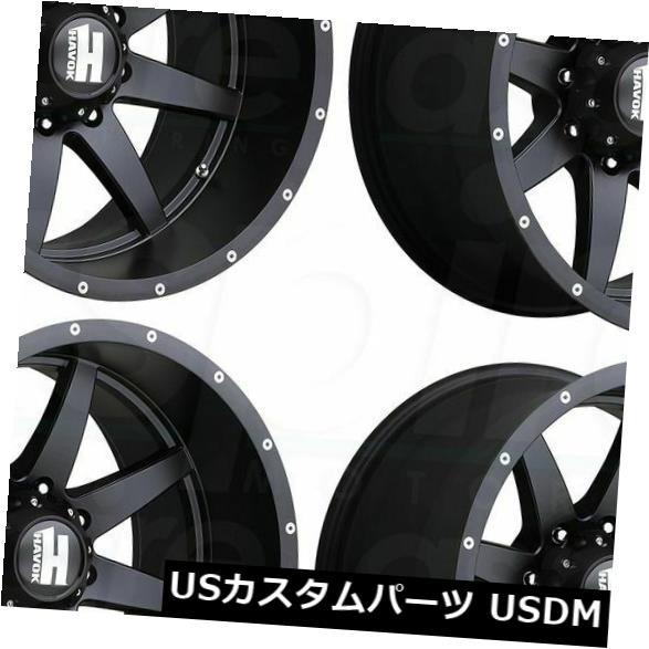 【公式】 海外輸入ホイール 20x9 Havok H112 5x5 Black/ 5x5 5x127 Havok 12マットブラックホイールリムセット(4) 20x9 Havok H112 5x5/5x127 12 Matte Black Wheels Rims Set(4), ラララカフェ:8e3dc883 --- arg-serv.ru
