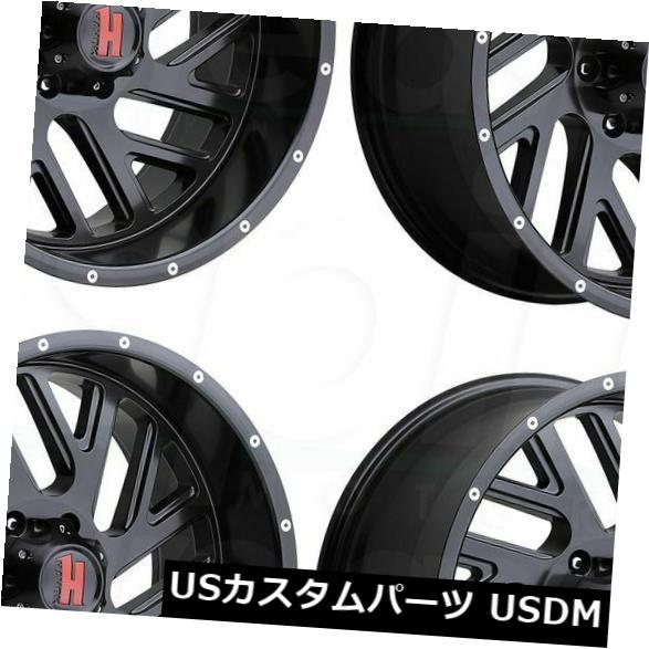 海外輸入ホイール 20x9 Havok H110 6x5.5 / 6x139.7 -12マットブラックホイールリムセット(4) 20x9 Havok H110 6x5.5/6x139.7 -12 Matte Black Wheels Rims Set(4)