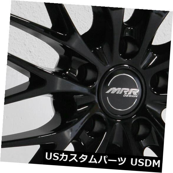 海外輸入ホイール 18x8.5 / 18x9.5 MRR GT1 5x114.3 35/45ブラックホイールリムセット(4) 18x8.5/18x9.5 MRR GT1 5x114.3 35/45 Black Wheels Rims Set(4)