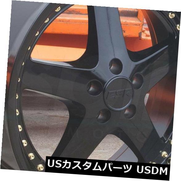 海外輸入ホイール 19x9.5 ESR SR04 SR4 5x112 35グロスブラックホイールリムセット(4) 19x9.5 ESR SR04 SR4 5x112 35 Gloss Black Wheels Rims Set(4)
