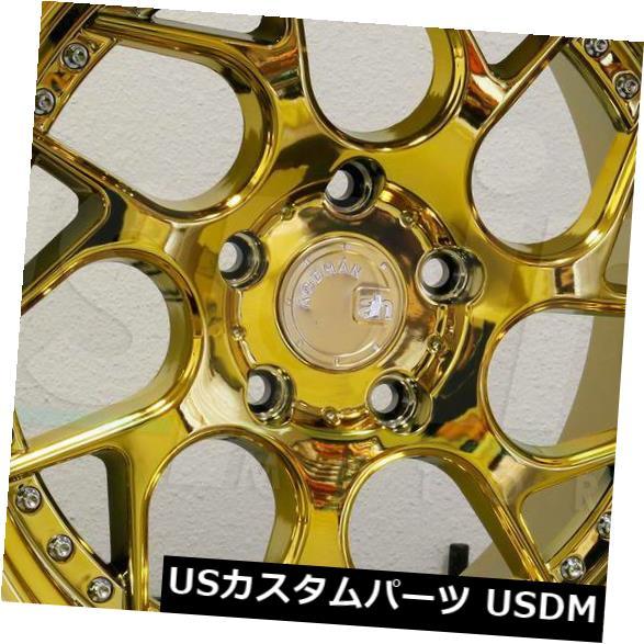 海外輸入ホイール 19x9.5 / 19x10.5 Aodhan DS01 DS1 5x114.3 15/15ゴールドバキュームホイールリムセット(4) 19x9.5/19x10.5 Aodhan DS01 DS1 5x114.3 15/15 Gold Vacuum Wheels Rims Set(4)
