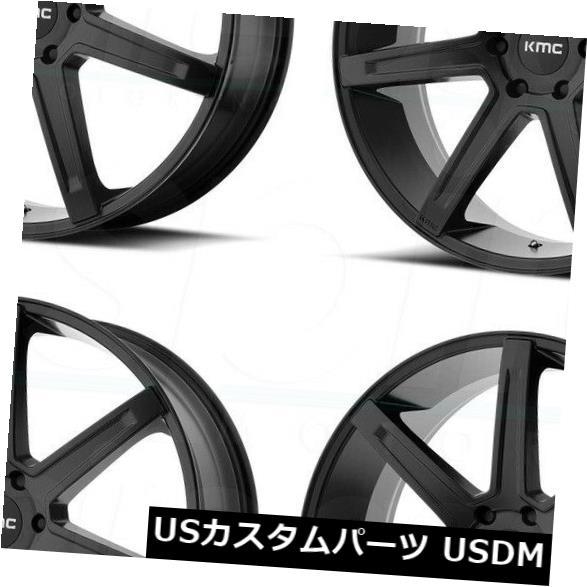正式的 海外輸入ホイール Wheels 20x9 Satin KMC KM700 KM700 5x5/ 5x127 35サテンブラックホイールリムセット(4) 20x9 KMC KM700 5x5/5x127 35 Satin Black Wheels Rims Set(4), 和食器と和雑貨のお店 舞陶館:81464bcc --- sap-latam.com