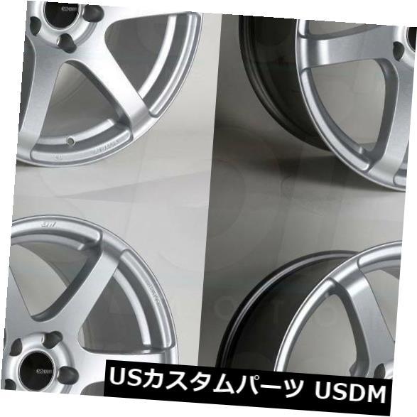 海外輸入ホイール 18x9.5 Enkei T6S 5x114.3 15シルバーペイントホイールリムセット(4) 18x9.5 Enkei T6S 5x114.3 15 Silver Paint Wheels Rims Set(4)