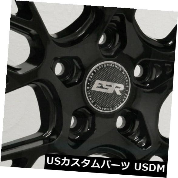 海外輸入ホイール 18x8.5 / 18x10.5 ESR CS11 5x112 30/22グロスブラックホイールリムセット(4) 18x8.5/18x10.5 ESR CS11 5x112 30/22 Gloss Black Wheels Rims Set(4)