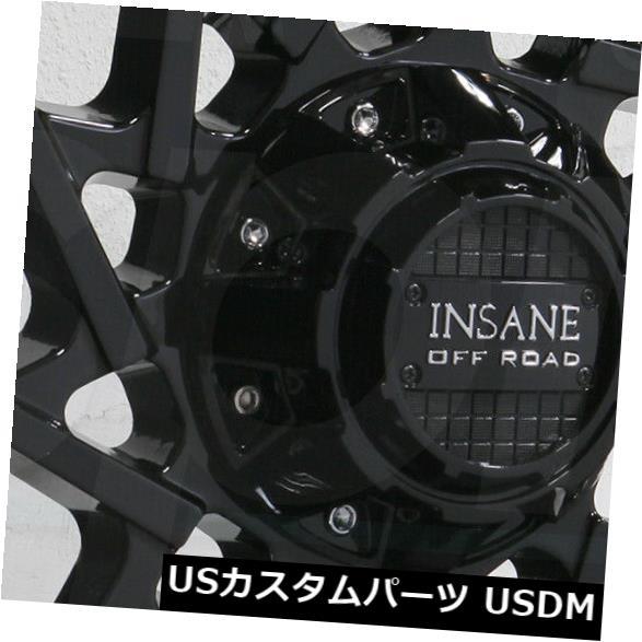 海外輸入ホイール 20x10 Insane IO-11 5x114.3 / 5x5 0グロスブラックホイールリムセット(4) 20x10 Insane IO-11 5x114.3/5x5 0 Gloss Black Wheels Rims Set(4)