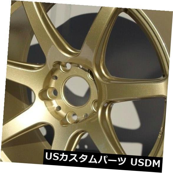 海外輸入ホイール 18x9.5 Rota Vector Pro 5x114.3 38ゴールドホイールリムセット(4) 18x9.5 Rota Vector Pro 5x114.3 38 Gold Wheels Rims Set(4)
