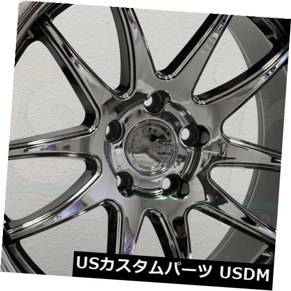 海外輸入ホイール 18x9.5 / 18x10.5 Aodhan DS02 DS2 5x112 22/15ブラックバキュームホイールリムセット(4) 18x9.5/18x10.5 Aodhan DS02 DS2 5x112 22/15 Black Vacuum Wheels Rims Set(4)