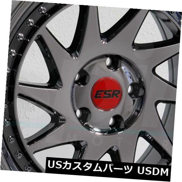 独特の上品 海外輸入ホイール 18x10.5 5x120 Wheels ESR 18x10.5 SR09 SR9 5x120 22ブラッククロームホイールリムセット(4) 18x10.5 ESR SR09 SR9 5x120 22 Black Chrome Wheels Rims Set(4), SQUAT USED CLOTHING STORE:8a640fb9 --- odishapolitics.in