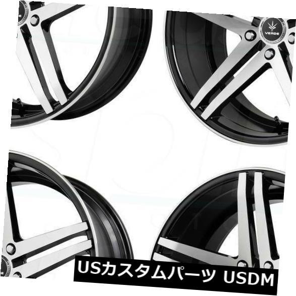新しい季節 海外輸入ホイール 20x9 20x9 Verde V39 Parallax 5x114.3 V39 28グロスブラックマシニングホイールリムセット(4) 20x9 5x114.3 Verde V39 Parallax 5x114.3 28 Gloss Black Machined Wheels Rims Set(4), 豊田市:fbdb6305 --- arg-serv.ru
