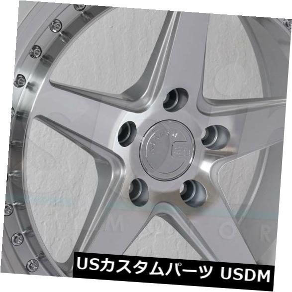 海外輸入ホイール 19x11 Aodhan DS05 DS5 5x112 15シルバーホイールリムセット(4) 19x11 Aodhan DS05 DS5 5x112 15 Silver Wheels Rims Set(4)