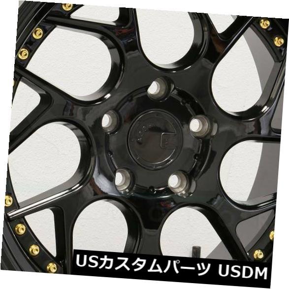海外輸入ホイール 19x10.5 Aodhan DS01 DS1 5x108 22グロスブラックホイールリムセット(4) 19x10.5 Aodhan DS01 DS1 5x108 22 Gloss Black Wheels Rims Set(4)