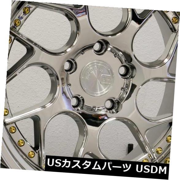 海外輸入ホイール 18x8.5 / 18x9.5 Aodhan DS01 DS1 5x108 35/30真空プラチナホイールリムセット(4) 18x8.5/18x9.5 Aodhan DS01 DS1 5x108 35/30 Vacuum Platinum Wheels Rims Set(4)