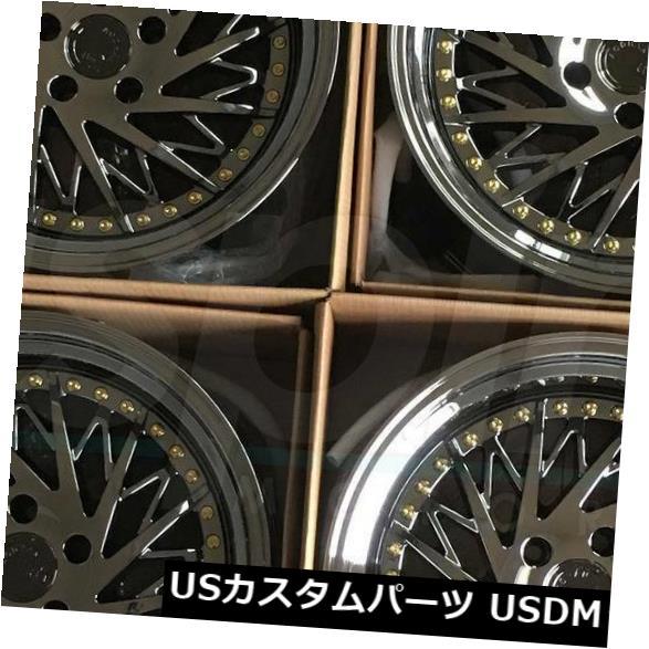 海外輸入ホイール 4-Directional 18x10.5 Aodhan DS03 DS3 5x112 15ブラックバキュームホイールリムセット(4) 4-Directional 18x10.5 Aodhan DS03 DS3 5x112 15 Black Vacuum Wheels Rims Set(4)