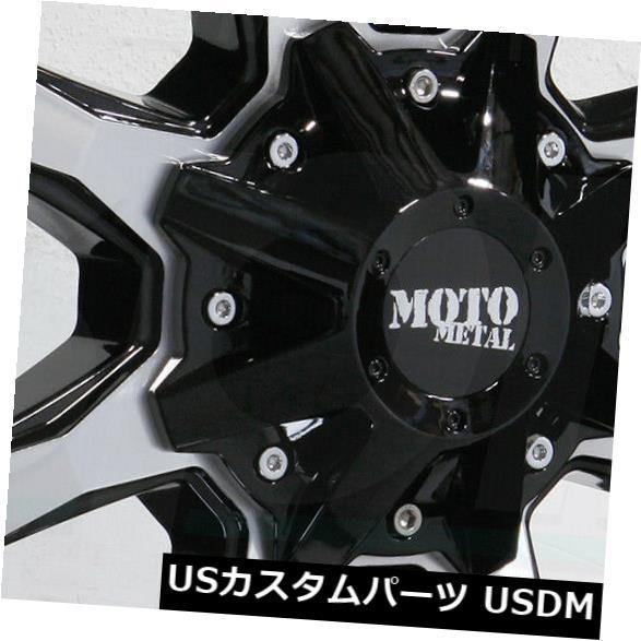 海外輸入ホイール 18x9 Moto Metal MO970 5x5.5 / 5x150 18ブラックマシンホイールリムセット(4) 18x9 Moto Metal MO970 5x5.5/5x150 18 Black Machine Wheels Rims Set(4)