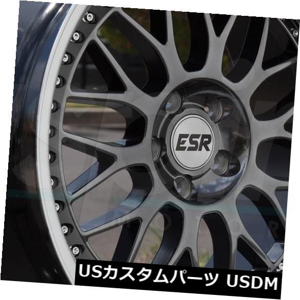 海外輸入ホイール 19x8.5 / 19x10.5 ESR SR01 SR1 5x114.3 30/22ガンメタルホイールリムセット(4) 19x8.5/19x10.5 ESR SR01 SR1 5x114.3 30/22 Gun Metal Wheels Rims Set(4)