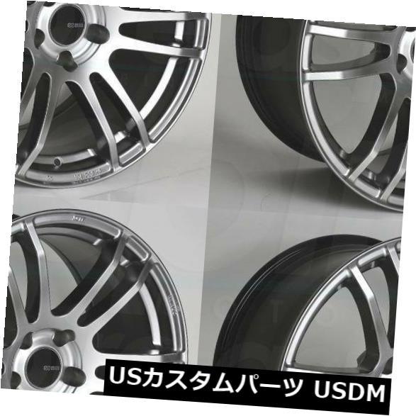 海外輸入ホイール 18x8 Enkei TSP6 5x100 45ハイパーシルバーホイールリムセット(4) 18x8 Enkei TSP6 5x100 45 Hyper Silver Wheels Rims Set(4)