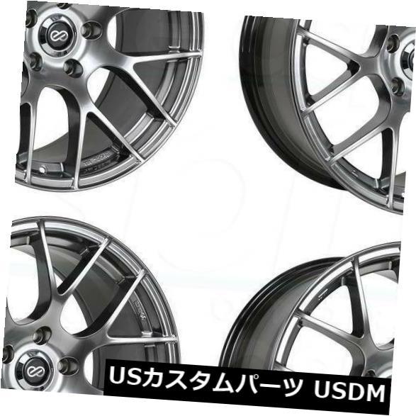 海外輸入ホイール 18x8エンケイライジン5x100 35ハイパーシルバーホイールリムセット(4) 18x8 Enkei Raijin 5x100 35 Hyper Silver Wheels Rims Set(4)