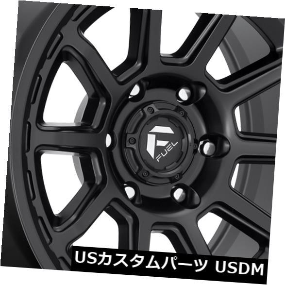 海外輸入ホイール 17x9燃料トルクD689 6x135 1マットブラックホイールリムセット(4) 17x9 Fuel Torque D689 6x135 1 Matte Black Wheels Rims Set(4)