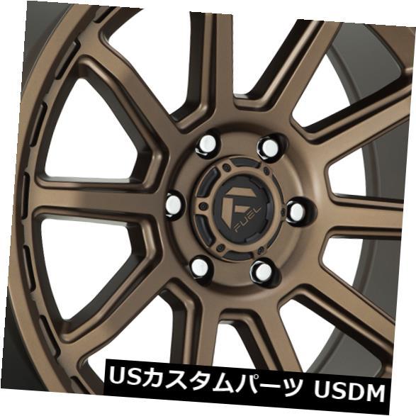 海外輸入ホイール 17x9燃料トルクD690 6x5.5 / 6x139.7 -12ブロンズホイールリムセット(4) 17x9 Fuel Torque D690 6x5.5/6x139.7 -12 Bronze Wheels Rims Set(4)