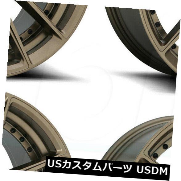 【超新作】 海外輸入ホイール 18x8ニッチDFS M222 DFS 40 5x114.3 Wheels 40ブロンズホイールリムセット(4) 18x8 Niche DFS M222 5x114.3 40 Bronze Wheels Rims Set(4), e-フラワー:d9d9ad4d --- experiencesar.com.ar