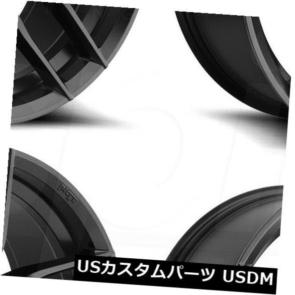 海外輸入ホイール 18x8ニッチヴォッソM203 5x114.3 30マットブラックホイールリムセット(4) 18x8 Niche Vosso M203 5x114.3 30 Matte Black Wheels Rims Set(4)